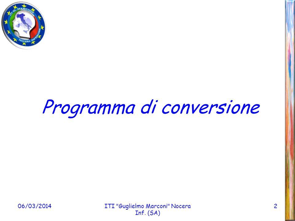 06/03/2014ITI Guglielmo Marconi Nocera Inf. (SA) 13 Link al programma
