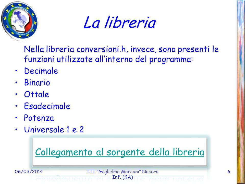 06/03/2014ITI Guglielmo Marconi Nocera Inf.