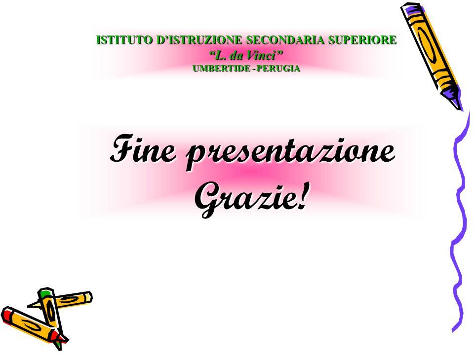 Fine presentazione Grazie. ISTITUTO DISTRUZIONE SECONDARIA SUPERIORE L.