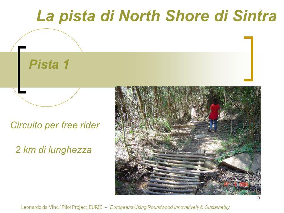 13 Pista 1 Circuito per free rider Leonardo da Vinci Pilot Project, EURIS – Europeans Using Roundwood Innovatively & Sustainably 2 km di lunghezza La pista di North Shore di Sintra
