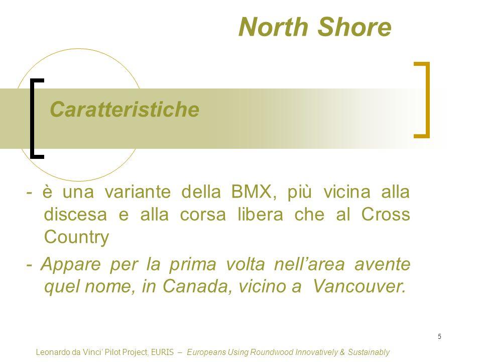 5 North Shore - è una variante della BMX, più vicina alla discesa e alla corsa libera che al Cross Country - Appare per la prima volta nellarea avente quel nome, in Canada, vicino a Vancouver.