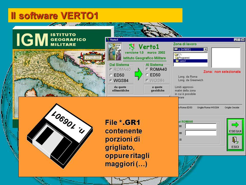Il software VERTO1 n. 106901 File *.GR1 contenente porzioni di grigliato, oppure ritagli maggiori (…)