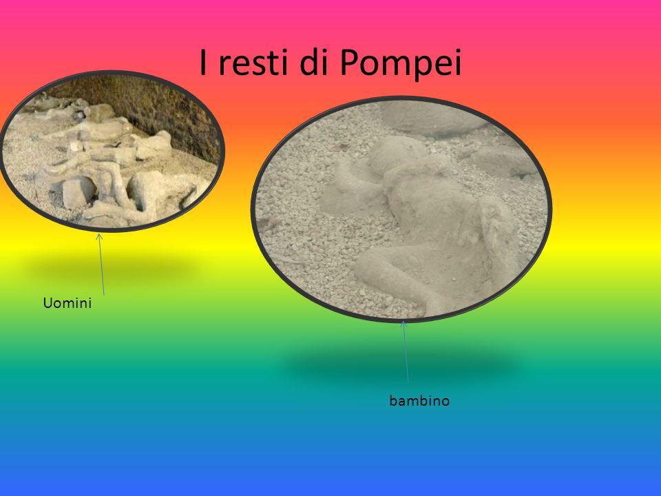 I resti di Pompei Uomini bambino