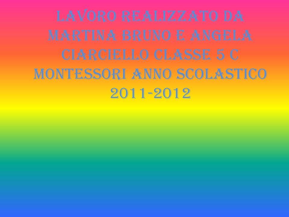 Lavoro realizzato da Martina Bruno e Angela Ciarciello classe 5 c Montessori anno scolastico 2011-2012