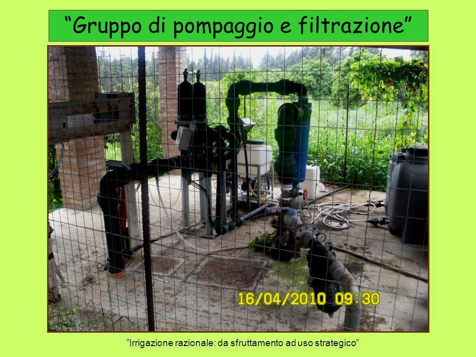 Gruppo di pompaggio e filtrazione Irrigazione razionale: da sfruttamento ad uso strategico