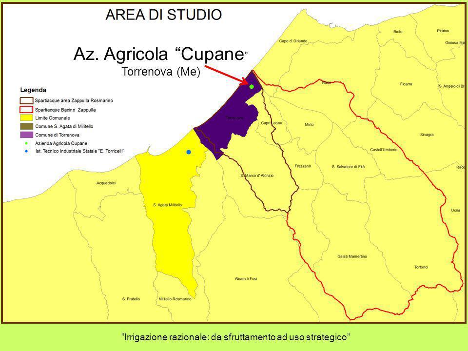 Az. Agricola Cupane Torrenova (Me) Irrigazione razionale: da sfruttamento ad uso strategico