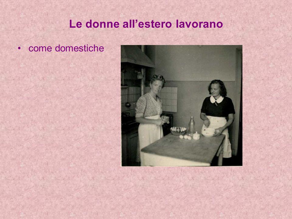 Le donne allestero lavorano come domestiche