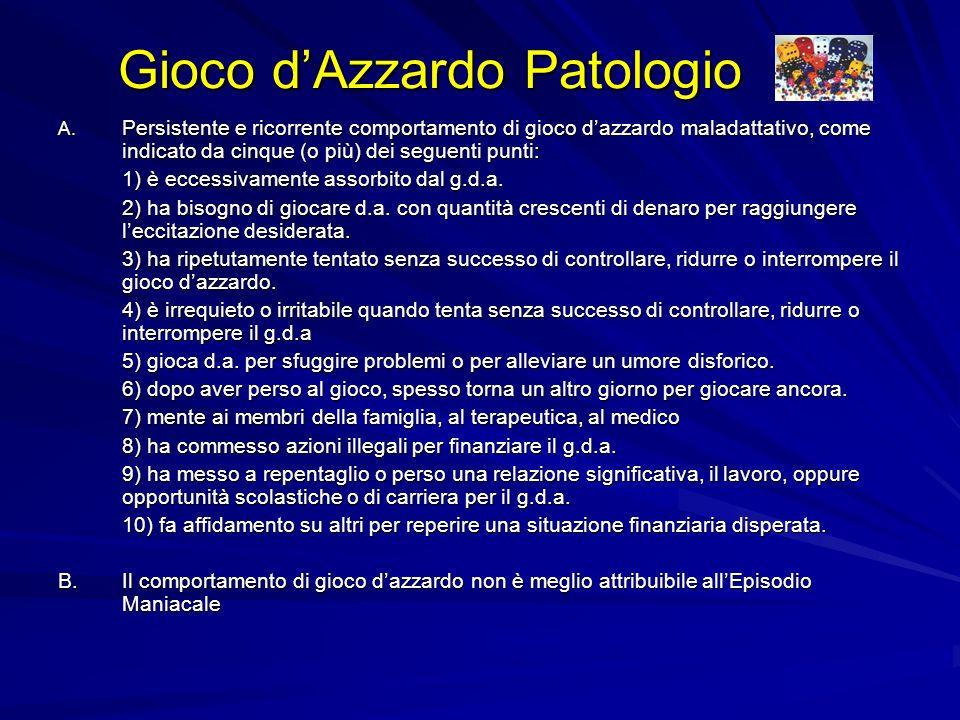 Gioco dAzzardo Patologio A.