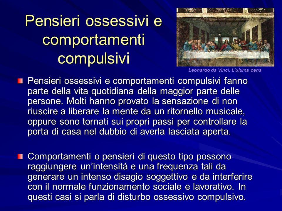 Pensieri ossessivi e comportamenti compulsivi Pensieri ossessivi e comportamenti compulsivi fanno parte della vita quotidiana della maggior parte delle persone.