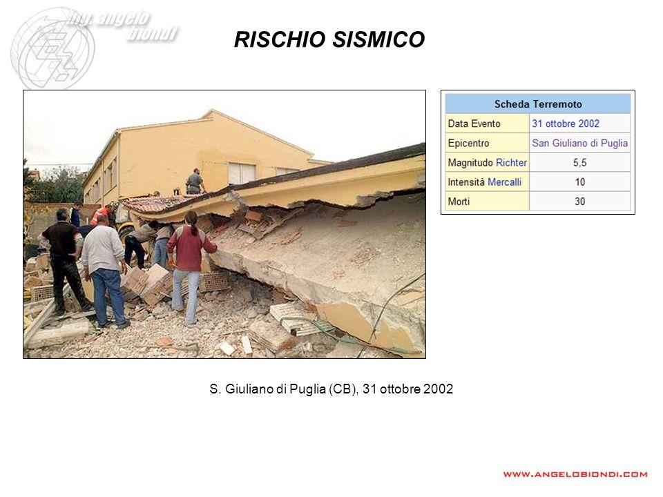 RISCHIO SISMICO S. Giuliano di Puglia (CB), 31 ottobre 2002
