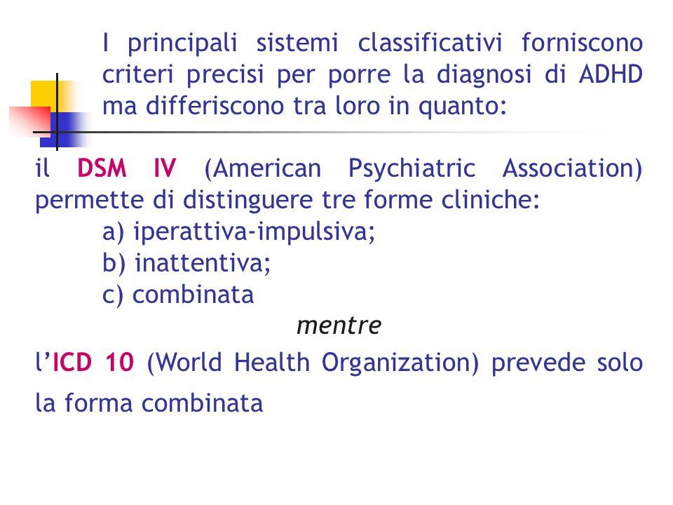 I sintomi dellADHD si collocano in un continuum tra normalità e patologia problema tipico della psicopatologia dellinfanzia (A.
