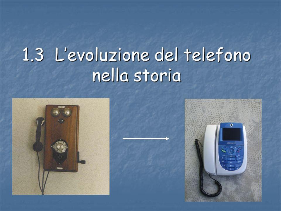 1.3 Levoluzione del telefono nella storia