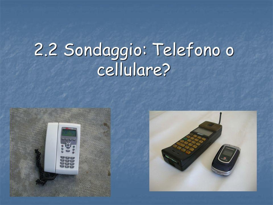 2.2 Sondaggio: Telefono o cellulare?