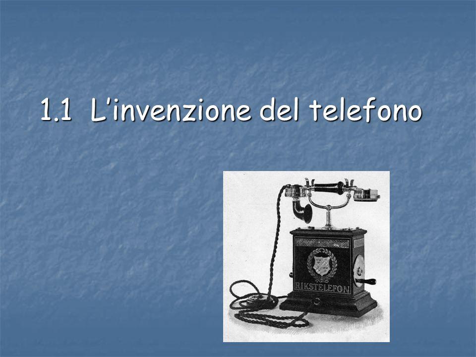 1.1 Linvenzione del telefono