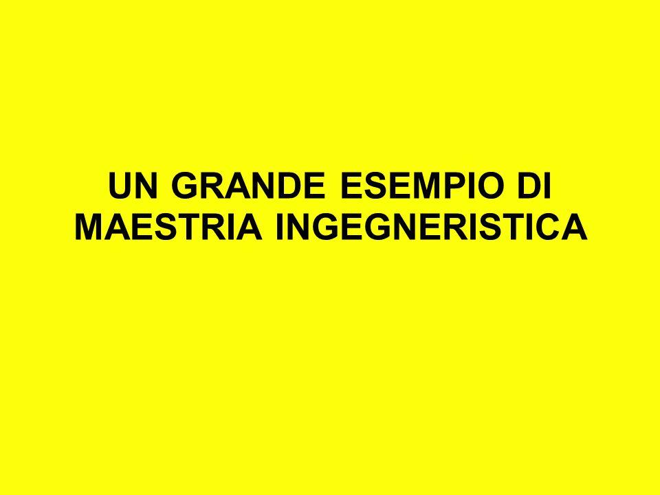 UN GRANDE ESEMPIO DI MAESTRIA INGEGNERISTICA