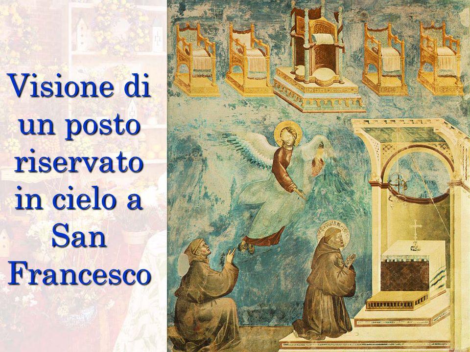 Visione di un posto riservato in cielo a San Francesco