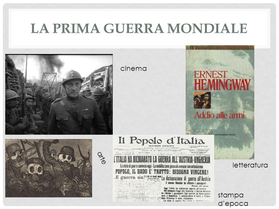 LA PRIMA GUERRA MONDIALE stampa depoca cinema arte letteratura