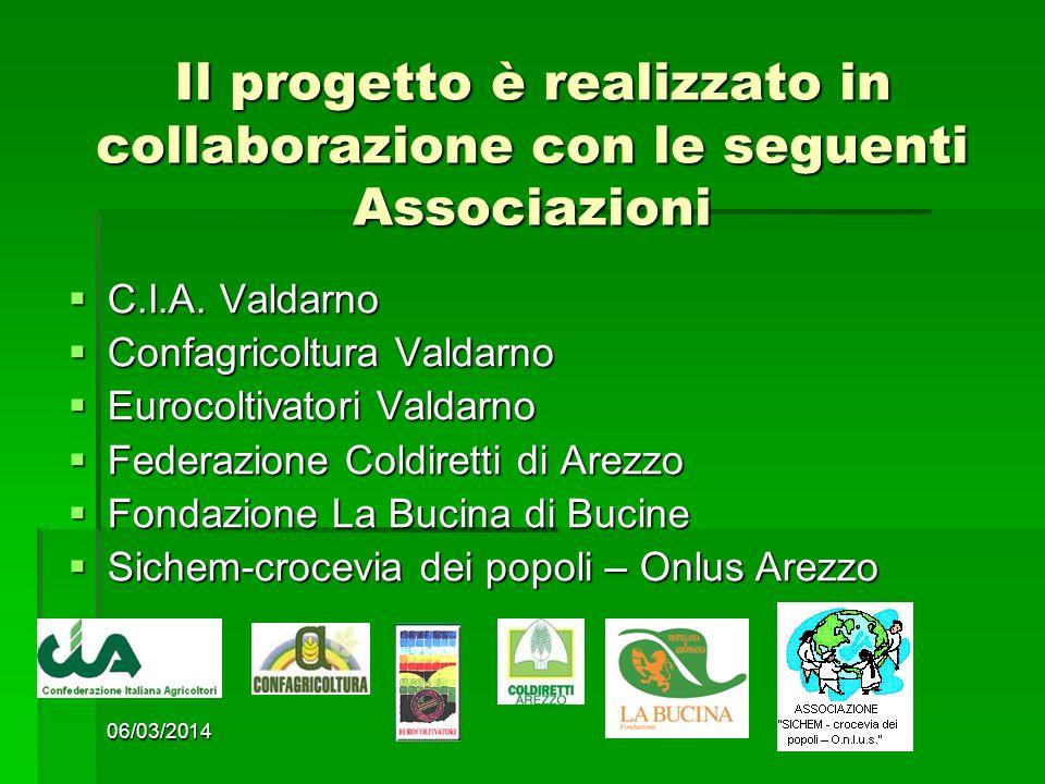 06/03/2014 5 Il progetto è realizzato in collaborazione con le seguenti Associazioni C.I.A.