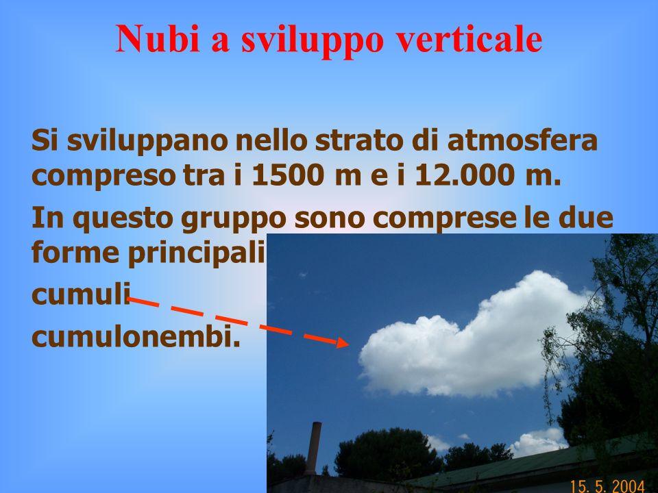 Si sviluppano nello strato di atmosfera compreso tra i 1500 m e i 12.000 m.