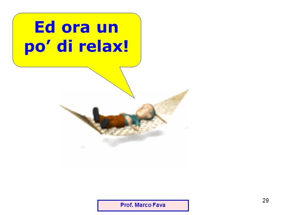 Prof. Marco Fava 29 Ed ora un po di relax!