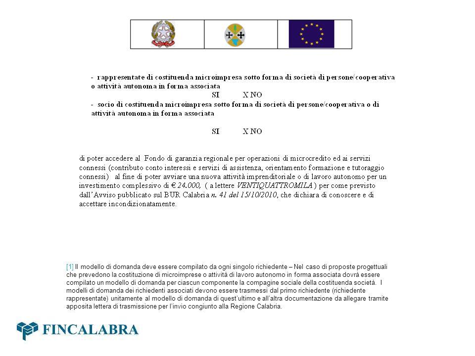 [1] Il modello di domanda deve essere compilato da ogni singolo richiedente – Nel caso di proposte progettuali che prevedono la costituzione di microi