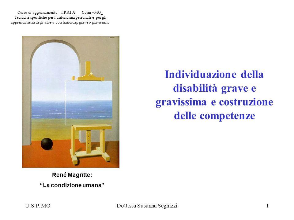U.S.P. MODott.ssa Susanna Seghizzi1 Corso di aggiornamento - I.P.S.I.A Corni –MO_ Tecniche specifiche per lautonomia personale e per gli apprendimenti