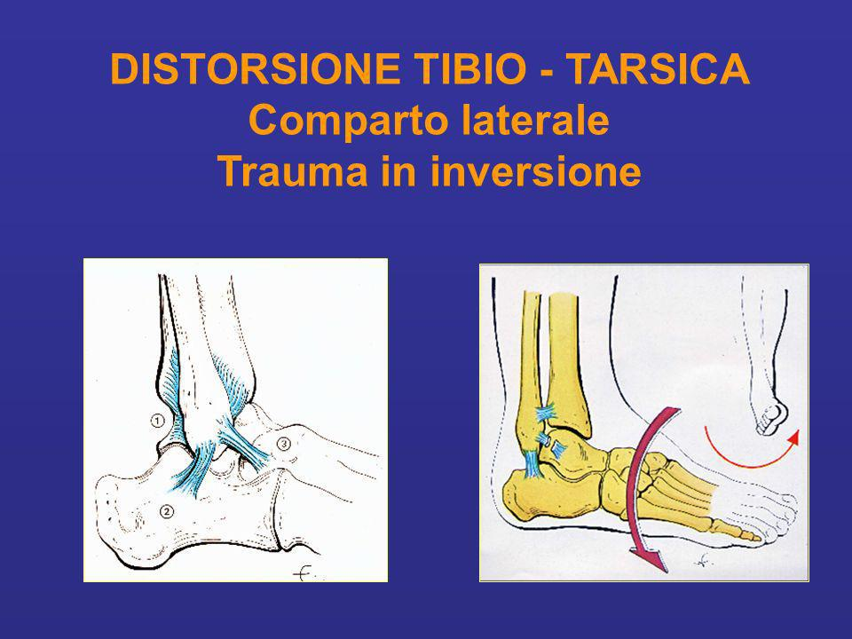 DISTORSIONE TIBIO - TARSICA Comparto laterale Trauma in inversione