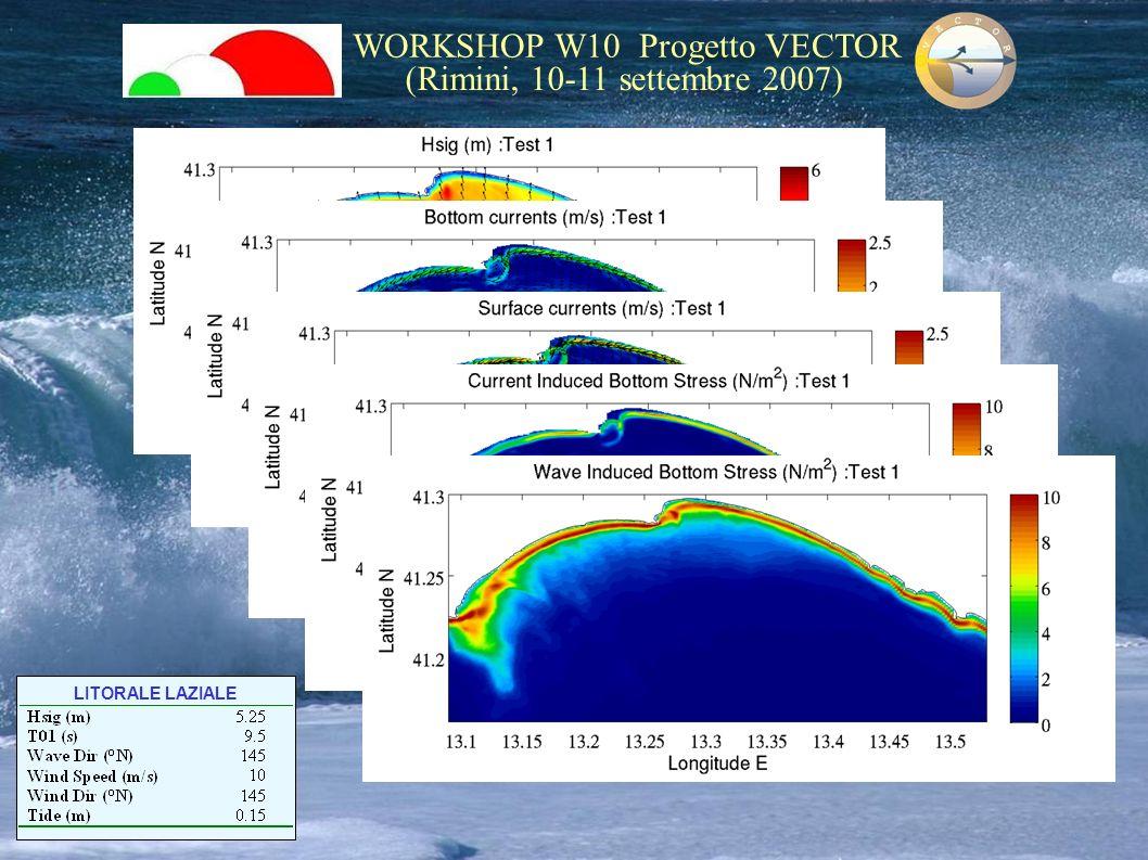WORKSHOP W10 Progetto VECTOR (Rimini, 10-11 settembre 2007) LITORALE LAZIALE