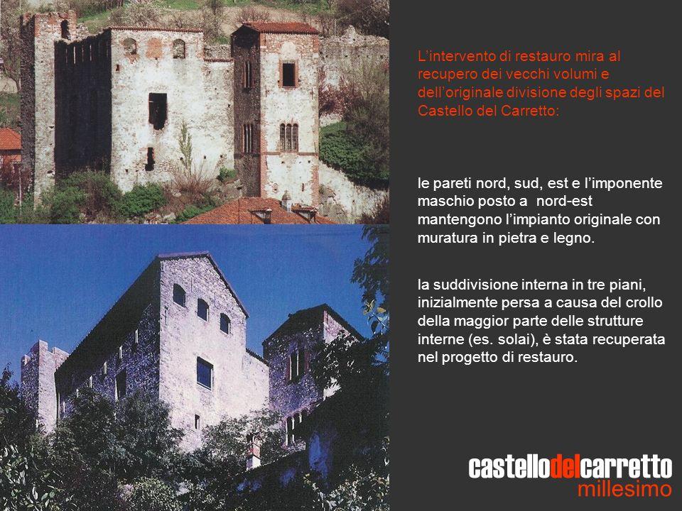 castellodelcarretto millesimo Lintervento di restauro mira al recupero dei vecchi volumi e delloriginale divisione degli spazi del Castello del Carret