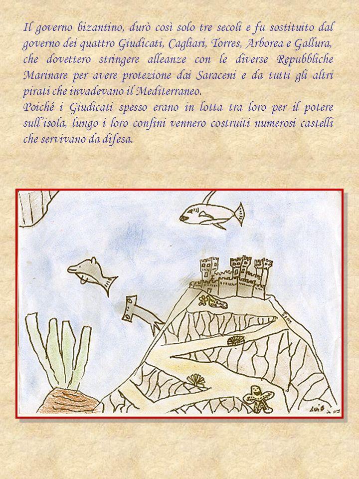 Il governo bizantino, durò così solo tre secoli e fu sostituito dal governo dei quattro Giudicati, Cagliari, Torres, Arborea e Gallura, che dovettero