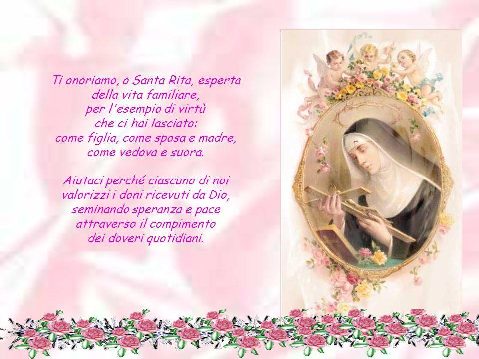 Ti onoriamo, o Santa del perdono, per la fortezza e il coraggio che hai dimostrato nei momenti più tragici della tua vita.