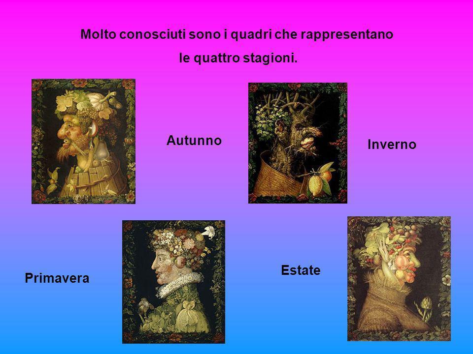 Molto conosciuti sono i quadri che rappresentano le quattro stagioni. Autunno Inverno Primavera Estate