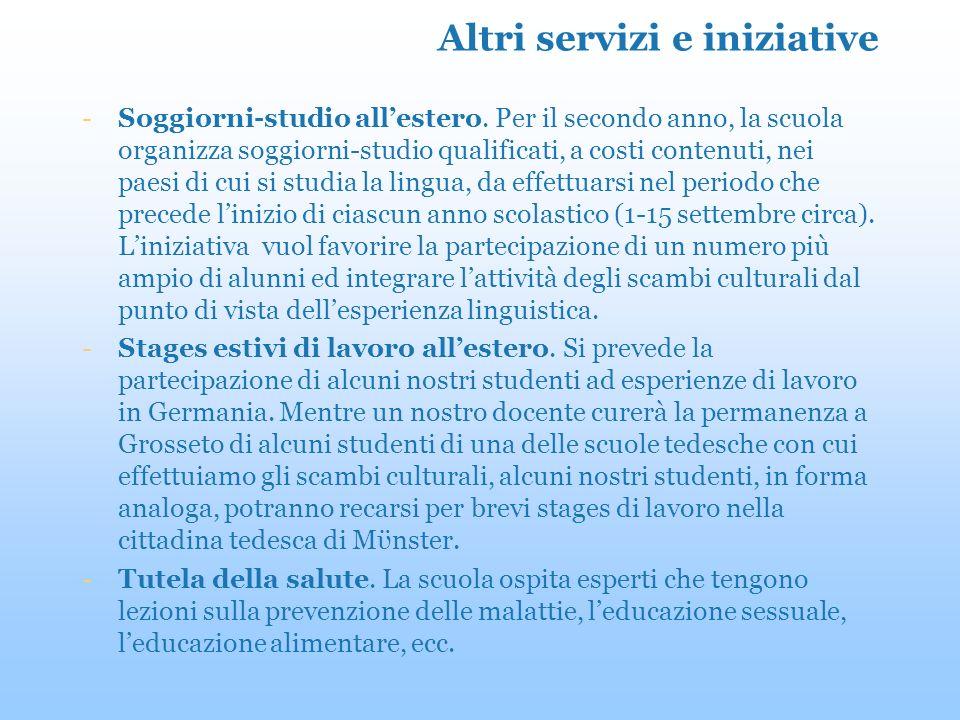 Altri servizi e iniziative -Soggiorni-studio allestero.