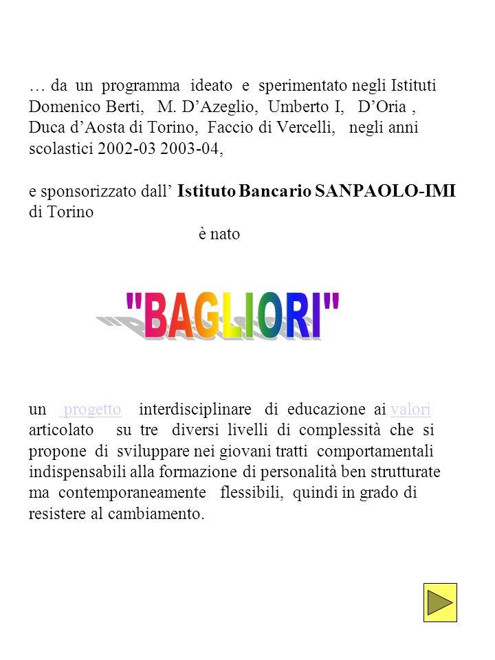 … da un programma ideato e sperimentato negli Istituti Domenico Berti, M.
