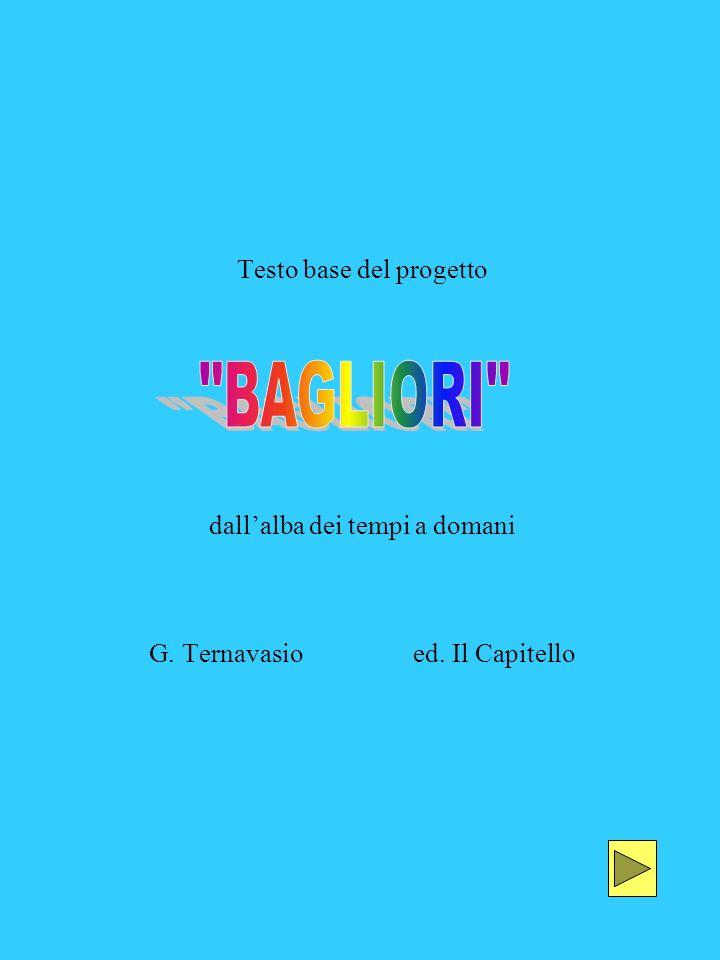 Testo base del progetto dallalba dei tempi a domani G. Ternavasio ed. Il Capitello
