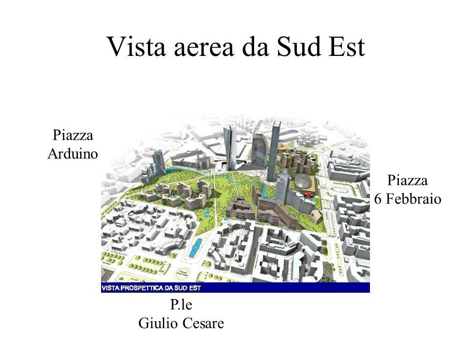 Vista aerea da Sud Est P.le Giulio Cesare Piazza 6 Febbraio Piazza Arduino
