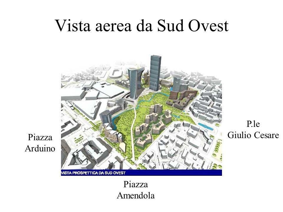 Vista aerea da Sud Ovest P.le Giulio Cesare Piazza Arduino Piazza Amendola