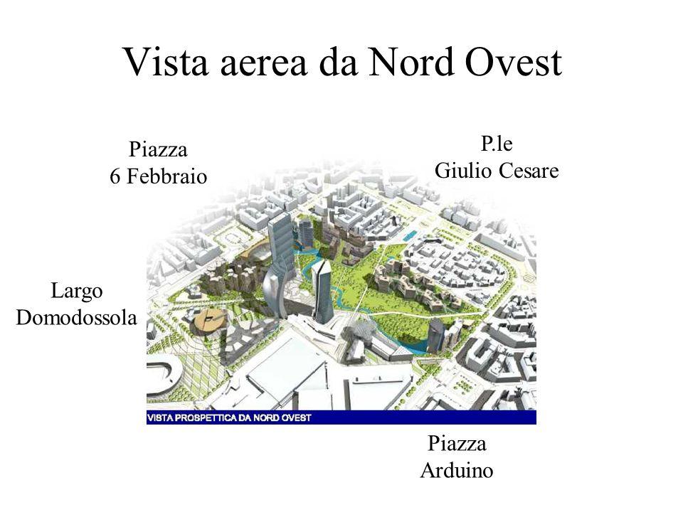 Vista aerea da Nord Ovest P.le Giulio Cesare Piazza Arduino Largo Domodossola Piazza 6 Febbraio