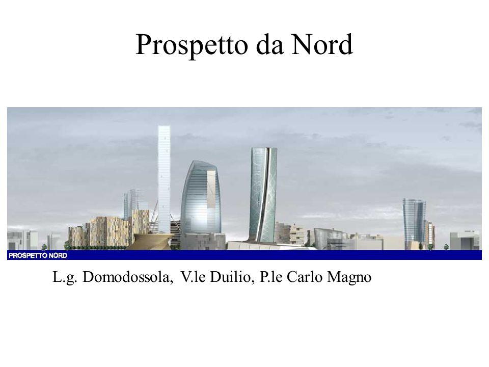 Prospetto da Nord L.g. Domodossola, V.le Duilio, P.le Carlo Magno