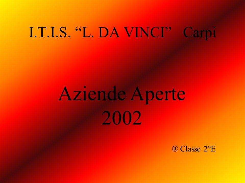 I.T.I.S. L. DA VINCI Carpi Aziende Aperte 2002 ® Classe 2°E