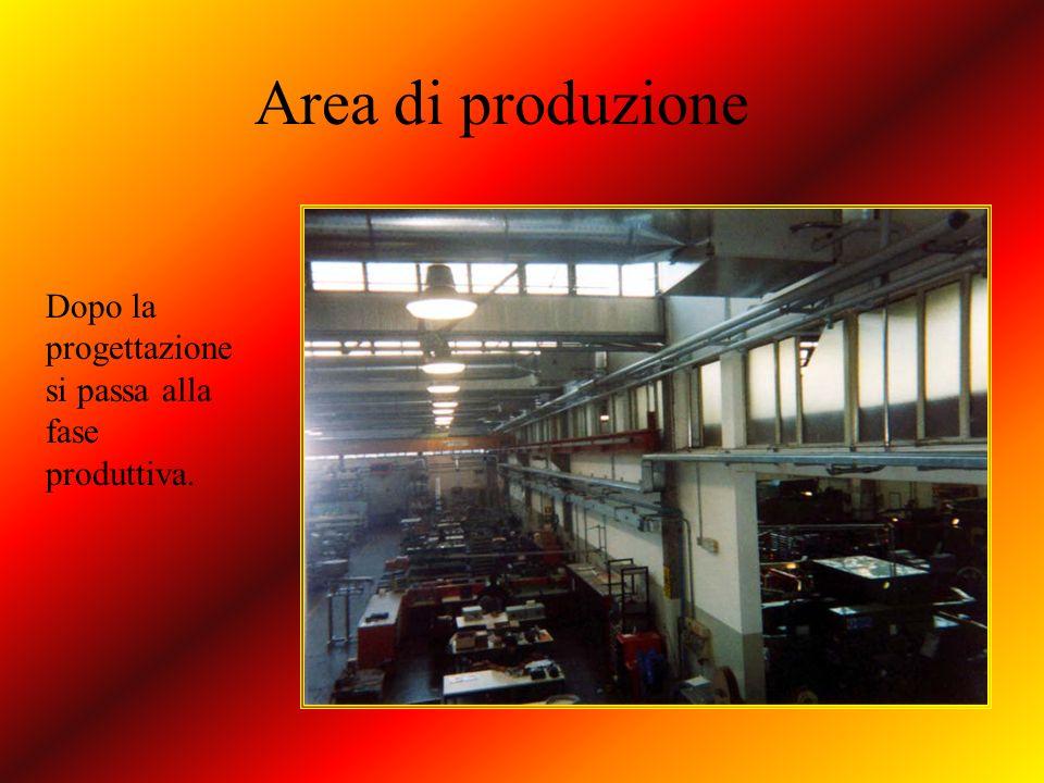Area di produzione Dopo la progettazione si passa alla fase produttiva.
