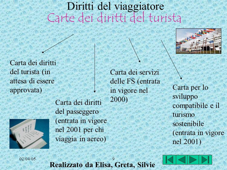 02/04/058 TOUR OPERATOR Organizzazione-produzione di un pacchetto viaggio (alloggiamento, trasporto, attività integrative) Il viaggio viene presentato