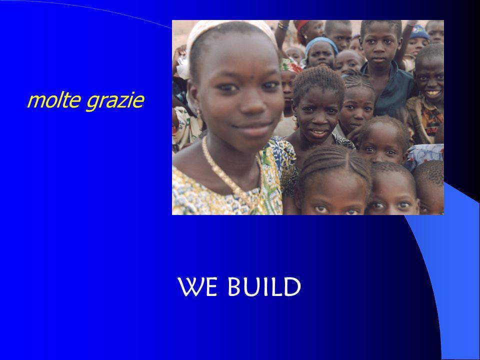 molte grazie WE BUILD