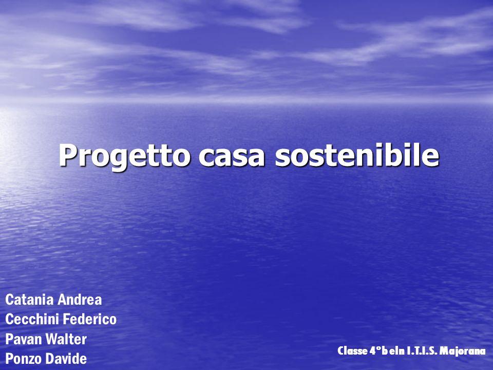 Progetto casa sostenibile Catania Andrea Cecchini Federico Pavan Walter Ponzo Davide Classe 4°b eln I.T.I.S. Majorana