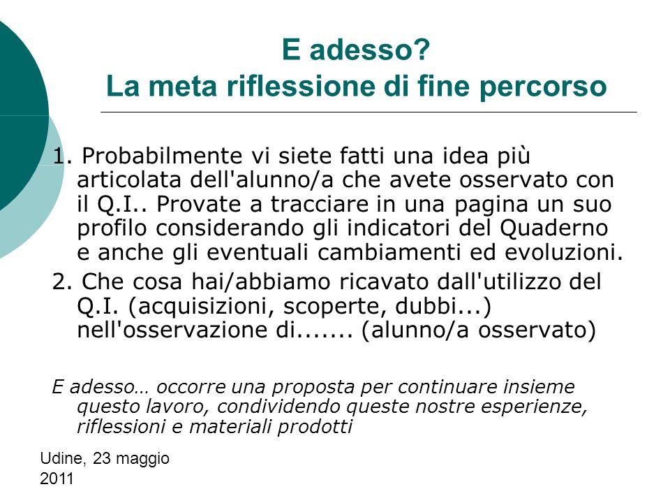 Udine, 23 maggio 2011 1.