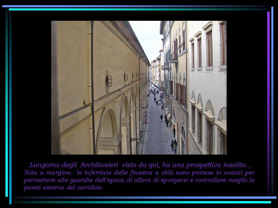 Percorrendo il corridoio, siamo giunti al Ponte Vecchio.