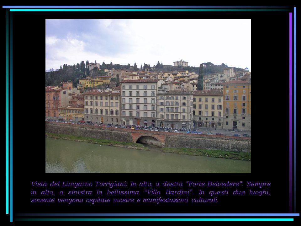 Dalle finestre degli Uffizi, risalendo lArno con lo sguardo, sulla collina si vede la Basilica di S.