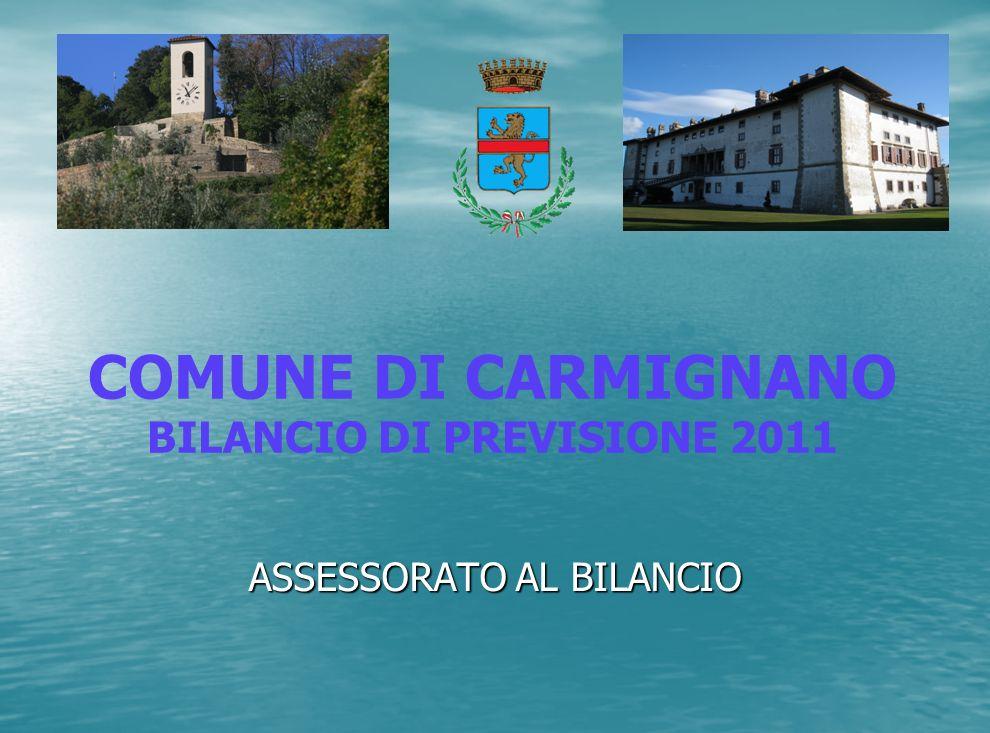 ASSESSORATO AL BILANCIO COMUNE DI CARMIGNANO BILANCIO DI PREVISIONE 2011