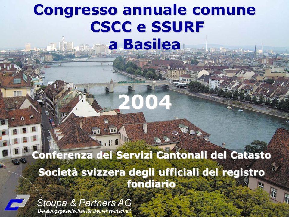 2004 Congresso annuale comune CSCC e SSURF a Basilea Conferenza dei Servizi Cantonali del Catasto Società svizzera degli ufficiali del registro fondia