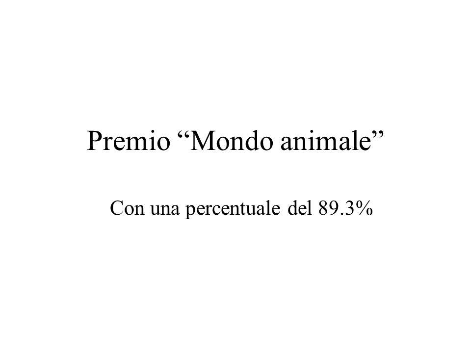 Premio Mondo animale Con una percentuale del 89.3%